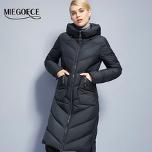 Long Winter Women's Jacket Coat Thickening windproof Women's Parkas Fashion Women Bio-Down Jacket Parkas Brand MIEGOFCE New 2017(China)