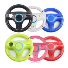 6 Colors Kart Racing Steering Wheel For Nintendo Wii Game Remote Controller For Wii Roda Remote Control Colorful Game Acessorios