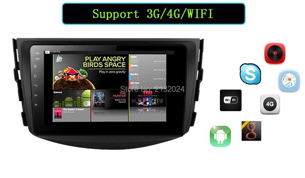 Ownice Android 6.0 Octa 8 Core 2G RAM car dvd player for Toyota Hilux VIOS Old Camry Prado RAV4 Prado 2003-2008 4G LTE Network