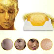 Transparent golden Whitening Soap Anti Aging Wrinkle Moisturizing Blackhead Remover Handmade Soap M02332(China)