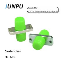 JUNPU 50pcs/lot Carrier Class FC APC Carrier class Fiber Optic Connector Adapter Single Mode Optical Fiber FC APC Adapter(China)