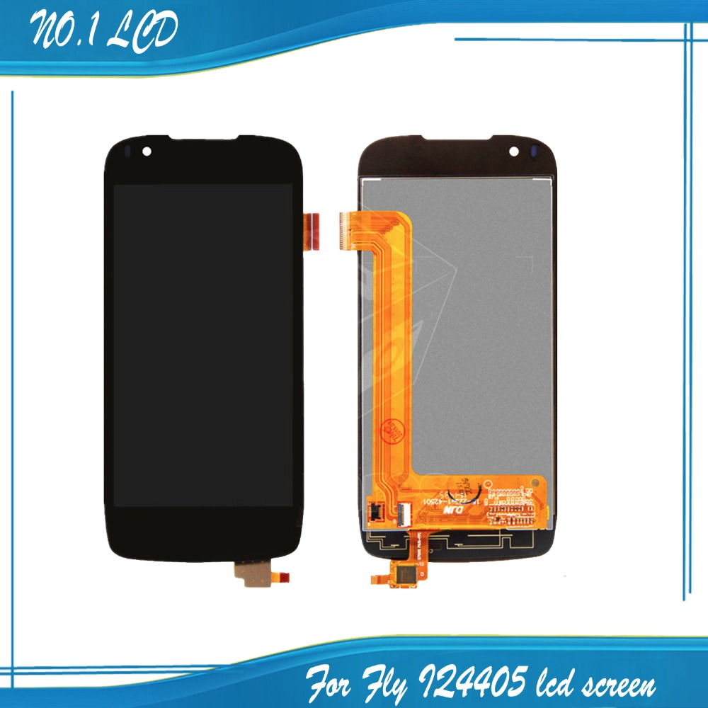 4.5 Black Color Fly IQ4405 Quad EVO Chic 1 Mobile Cell Phone LCD Dispaly + Touch Screen Digitizer Assembly<br><br>Aliexpress