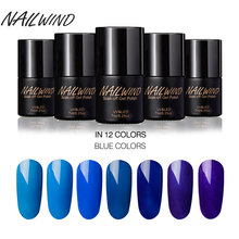 NAILWIND 7ML Blue Series Color Gel Nail Polish Needed Base Top UV&LED Lamp for Nails Gel Varnish Manicure Primer Soak-off Gel(China)