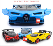 Hot Simulation 1:32 scale diecast super sport racing cars Bugatti chiron model alloy toys with light & sound pull back Vehicle