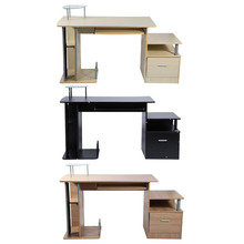 Home Computer Desk Office Desk Modern Desktop Computer Workstation Writing Desk With Storage Rack(China)