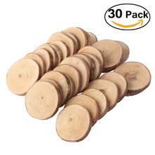 30pcs 4-5CM Wood Log Slices Discs For Events Party Decorative Gadgets For DIY Crafts Wedding Centerpieces(China)