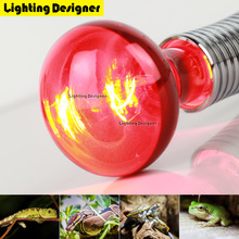 R80R95 Red Heat Lamp Bulb Infrared Heating Lamp Spot Basking Bulb 120V/220V 100W 150W Reptiles Bulb Helps Maintain Animal Warmth(China)