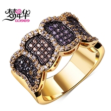 DreamCarnival1989 Multi Colors Zircon Promise Ring For Women Costumes Jewelry Anillos Mujer Ringen Valentine's Lover Gift Bijoux(China)