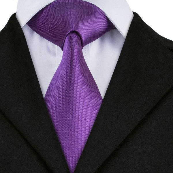 SN-591 Black Dimgray Darkviolet Striped Tie Hanky Cufflinks Sets