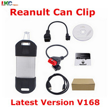 DHL Free Renault Can Clip Latest Version V168 Professional Diagnostic Tool with Multi-language Auto OBD2 Scanner