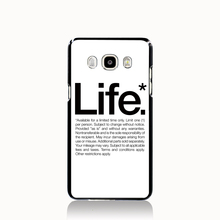 13520 quotes words life cell phone case cover for Samsung Galaxy J1 MINI J2 J3 J7 ON5 ON7 J120F 2016