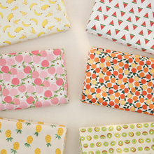 160x50cm Fruit Watermelon Pineapple Twill Cotton Fabric DIY Children's Wear Cloth Make Bedding Quilt Decoration Home 180g/m