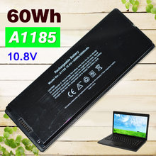 "Black 60Wh A1185 A1181 Laptop Battery For Apple MA566 MA566FE/A MA566G/A MA566J/A FOR MACBOOK 13"" MA472 MA472B/A MA701 MB404X"