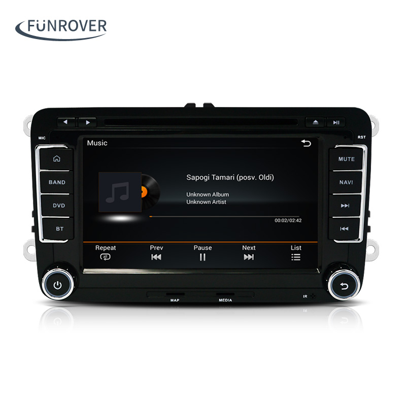 Android 5.1 2 DIN Car DVD player For VW Volkswagen...