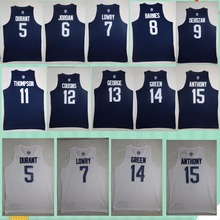New Arrivals Rio USA Dream Team 12 Basketball  Jerseys High Quality Breathable Stitched Anthony Green George Workout basket