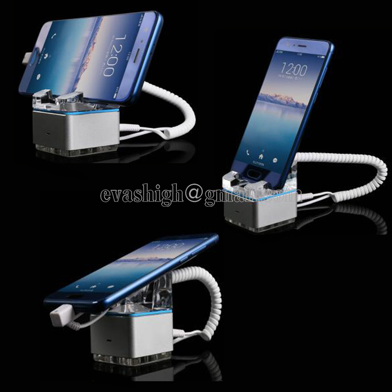 Smart Phone Security Display Stand Holder Mobile Cellphone Secure Burglar Alarm System Samsung Anti-theft Display With Charging <br>