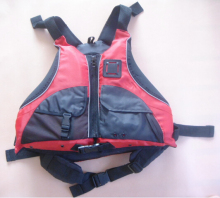 Free shipping CE Certified Kayak Life Jackets,Rafting life vest  Adult free size red color Buoyancy aids PFD