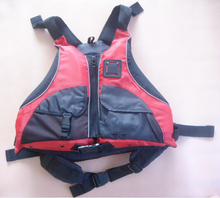 Free shipping CE Certified Kayak Life Jackets,Rafting life vest Adult free size red color Buoyancy aids PFD(China)