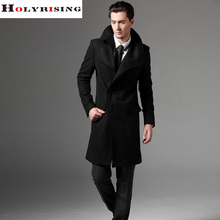 2017 S-3XL large size men wool coat long coat woolen coat erkek mont cappotto abrigo hombre peacoat Holyrising