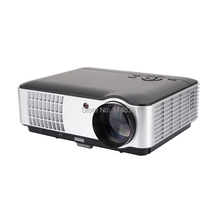 2017 New Home Theater LED Projector Full HD 1080P 5600 lumens TV Smart Projector Black Teaching Games Projector Free Shipping