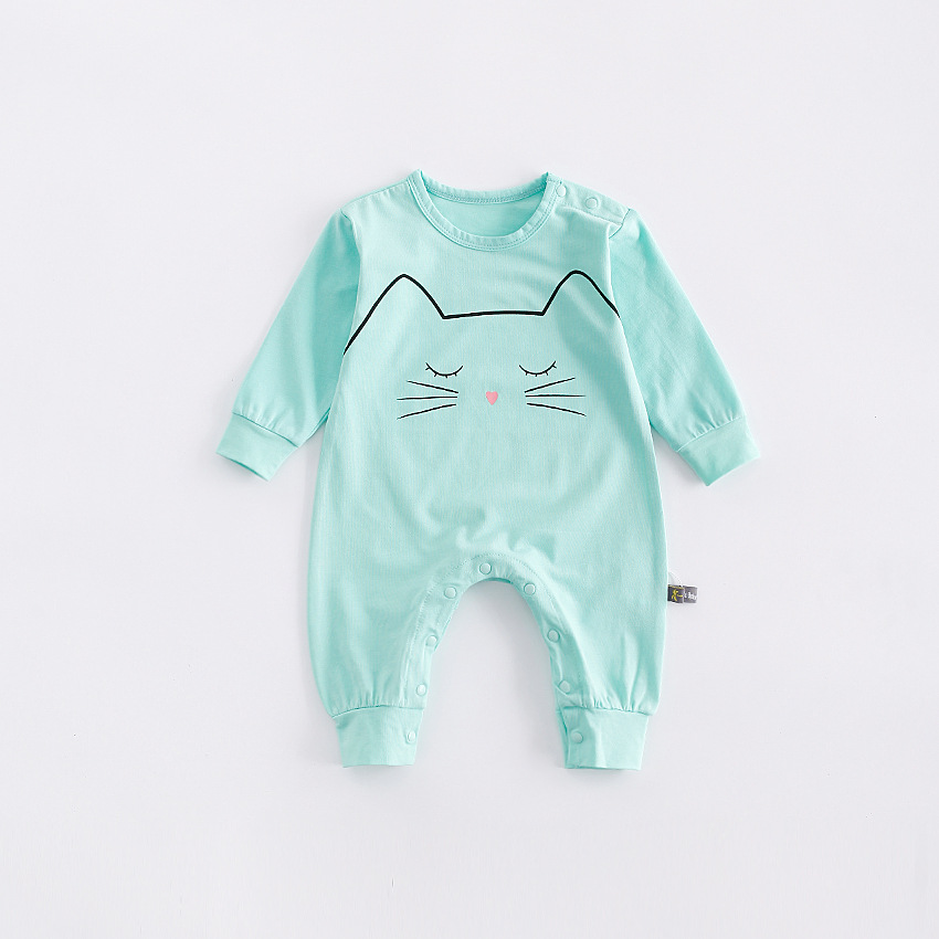 peninsula baby soft comfortable baby climbing clothes thick cotton cold-proof close skin baby romper carton animal baby jumpsuit<br>