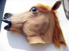 Hot selling Creepy Horse Mask Head Halloween / Christmas Costume Theater Prop Novelty Latex Rubber 50pcs/lot Good quality