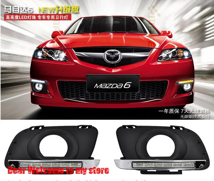 for 2011 2012 Mazda 6 daytime running lights coupe m6 new six horses mazda6 dedicated Car styling<br><br>Aliexpress