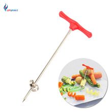 Upspirit Vegetable Fruit Swirl Slicing Spiral Cutter Potato Cutting Chip Carrot Slicer ABS+Stainless Steel Kitchen Cooking Tool(China)