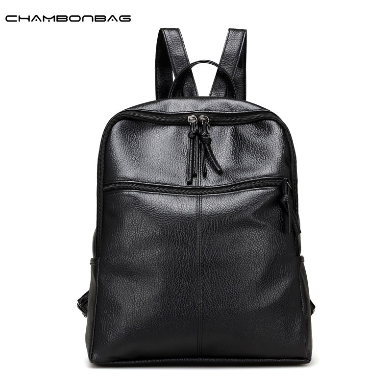 Cheap Price High Quality Black PU Leather Womens Backpacks Fashion Daily Girls Bags Female Backbag Famous Brand mochilas N483<br><br>Aliexpress