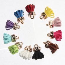 Vintage Leather Tassel 10pcs For Keychain Cellphone Straps Jewelry Fiber Fringe Suede Tassel 25mm DIY Pendant Charms Findings