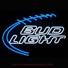 Art Light 5BUDLF Bud Light Football Neon Signs Neon Bulbs Led Signs Shop Display Real Glass Tube Handcrafted Decorated VD 28x20(China)