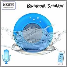 Free Shipping Mini Portable Subwoofer Shower Waterproof Wireless Bluetooth Speaker Car Handsfree Receive Call Music Suction Mic(China)