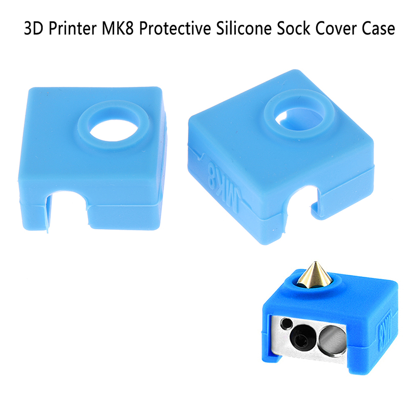 1pc 3D Printer MK8 Protective Silicone Sock Cover Case For Heater Block MK8 Silicone Hot End Sock 3D Printer Parts