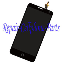 Black Full LCD Display + Touch Screen Digitizer Assembly For Alcatel One Touch Pop 3 5.5 OT5025 5025D 5025  Free Shipping