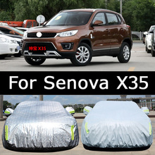Hithotwin special-purpose automobile sunshade rainproof dustproof clothing sunscreen cloth coat poncho car cover For Senova X35(China)