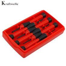 Kcaftwelle 6Pcs Precise Screwdriver Set Watch Repair Tools Phillips & Slotted Mini Screw Drivers 2.4-3.0/1.4-2.0-2.4-3.0