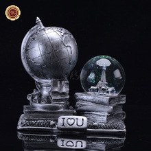 WR Lover's Best Gifts Unique Metal Crafts Fashion Snow Fake Crystal Ball Creative Artwork Ornament for Birthday Gifts(China)