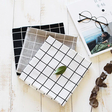 Kitchen Accessories Cotton Cloth Nordic Ins Zakka Black White Simple Geometry Mats Pads Dining Table Placemats 40*50CM SBY8059