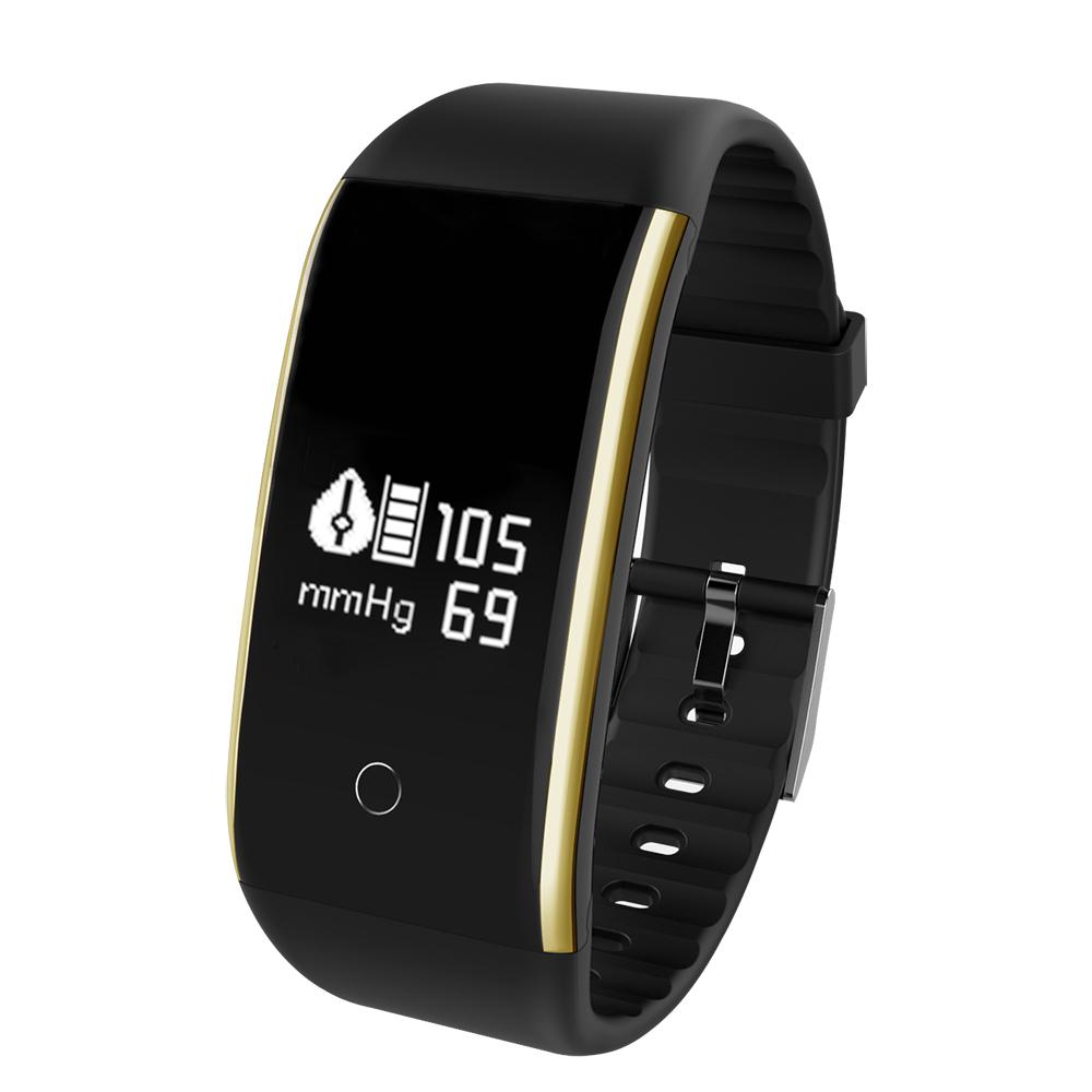 Waterproof Android Pedometer + Blood Pressure & Heart Rate Monitor Wrist Watch 24