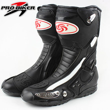 wheels automobile race motorcycle boots off-road boots wear-resistant super-fibre leather(China)