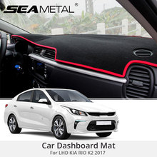For LHD KIA RIO K2 2017 Car Dashboard Mat Covers Mats Pad Auto Shade Cushion Cars Interior Protector Platform Carpet Accessories