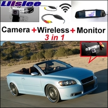 Liislee Wireless Receiver + Mirror Monitor Easy DIY Back Up Parking System For Volvo C70 + 3 in1 Special Rear View Wifi Camera