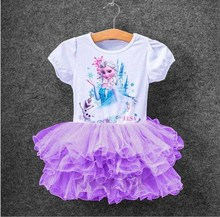 Multicolor Costume Elsa Girls Children Dress Cosplay Anna Girl's Princess Party For Kids Snow Infant Vestidos Party Baby Dresses(China)