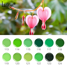 6ml Soak Off UV Gel Nail Polish Green Series Gel Lak Vernis Semi Permanent Lacquer Varnishes Gelpolish Nail Art Design 113-124