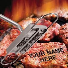 BBQ Meat Branding Iron Wood And Alminum Grilling Utensil With 55 Letters Tool Set For Names And More