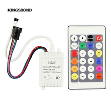 24 Key DC12V IR Remote Controller WS2812B WS2811 2811 magic color 200 Change Max 1000 Pixels LED Controller