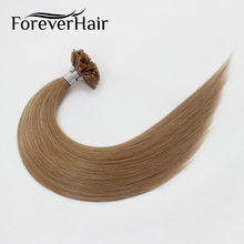"FOREVER HAIR 0.8g/s 16"" 18"" 20"" Remy Nail Tip Human Hair Extension ASH Blonde #18 Keratin U Tip Pre Bonded Human Hair Extension(China)"