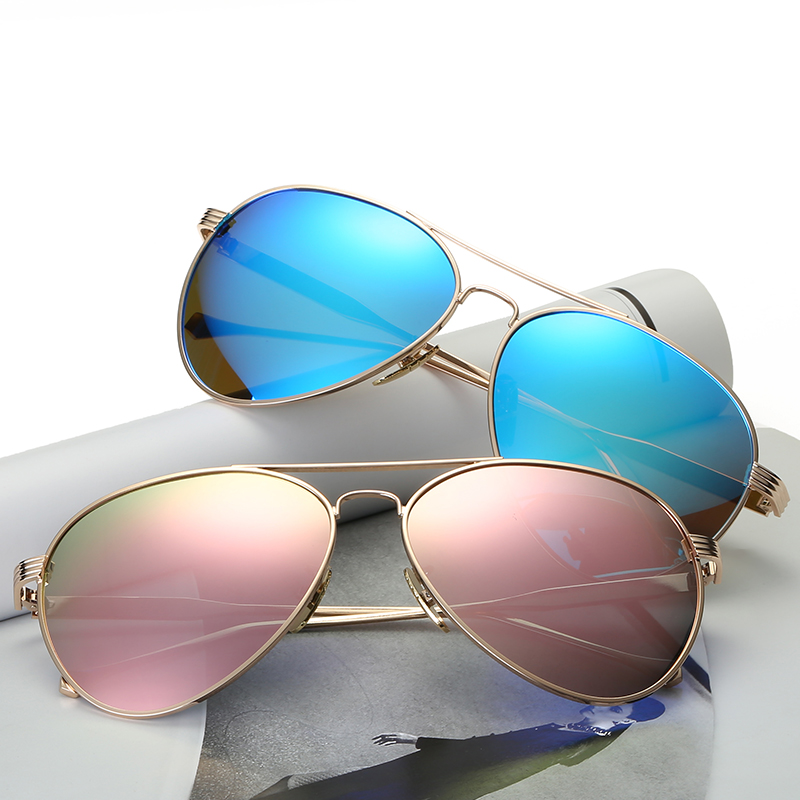 Mens sunglasses metal polarizer, dazzle colour frog mirror retro reflective sunglasses male prescription glasses 0746<br><br>Aliexpress