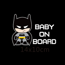 Superheroes Baby On Board Reflective Car Stickers And Decals Funny Decoration For Volkswagen Skoda Honda Hyundai Kia Lada Golf 7(China)