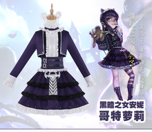 Annie LOL Gothic Lolita Uniforms Cosplay Costume Free Shipping(China)